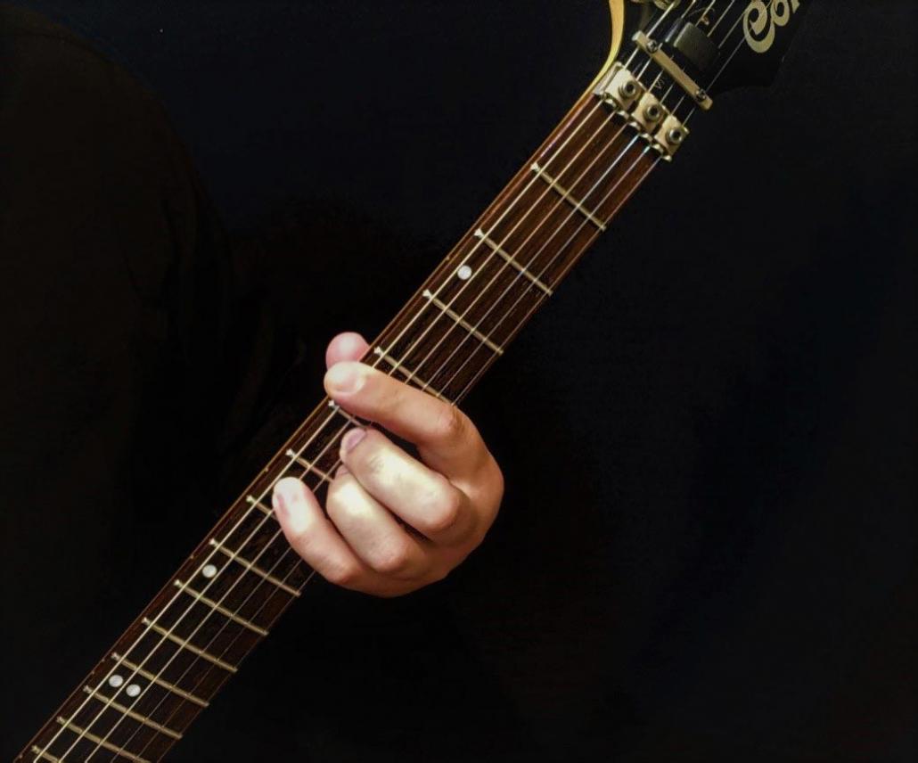 آموزش آکورد لا ماژور 7 گیتار الکتریک