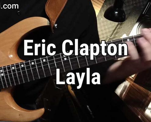 آموزش گیتار الکتریک، آهنگ Eric Clapton Layla