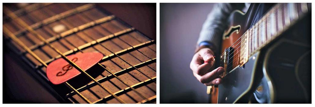 آموزش تکنیک پیکینگ گیتار الکتریک