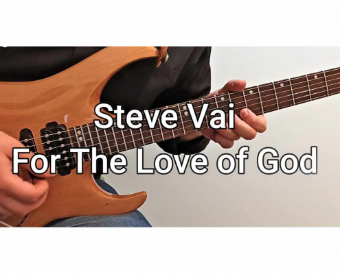 آموزش گیتار الکتریک، آهنگ steve vai for the love of god