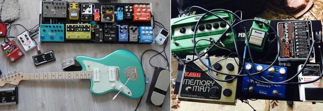 انواع پدال های افکت گیتار الکتریک